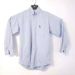 Disney Store Mens Oxford Shirt Blue Mickey Mouse L